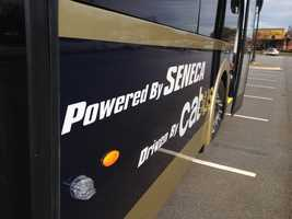 The buses were built by Proterra Incorporated in Greenville.