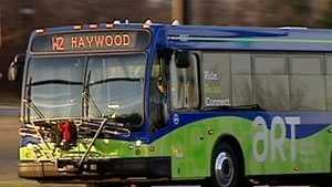 Asheville city bus (Christmas)