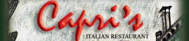 Capri's Italian Restaurant, Easley: Restaurant Website