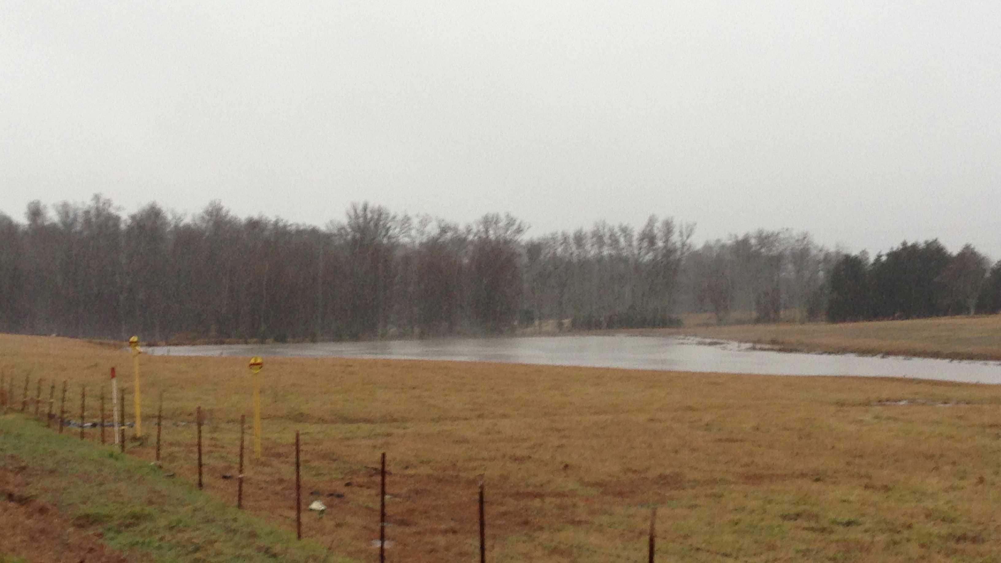 Flooding in field