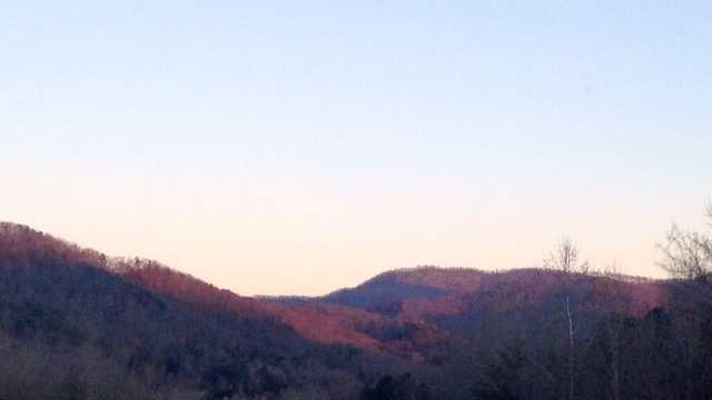 Cold weather sunrise