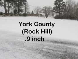 York County got off easiest, with the lowest snow total in the state.