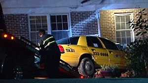 img - GPD: Cabbie robbed, crashes into house