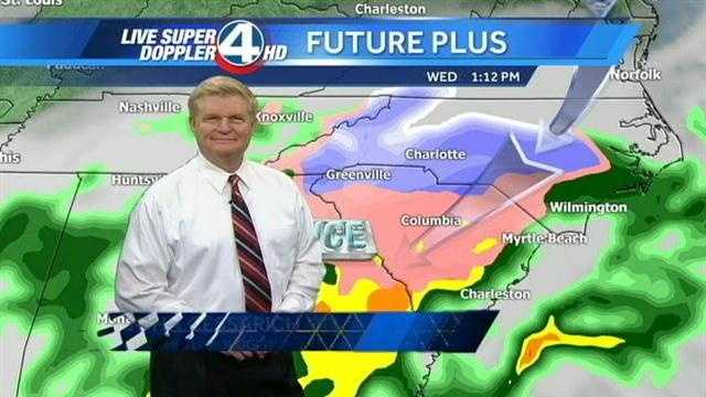 WYFF News 4 weather forecast for Upstate South Carolina and Western North Carolina