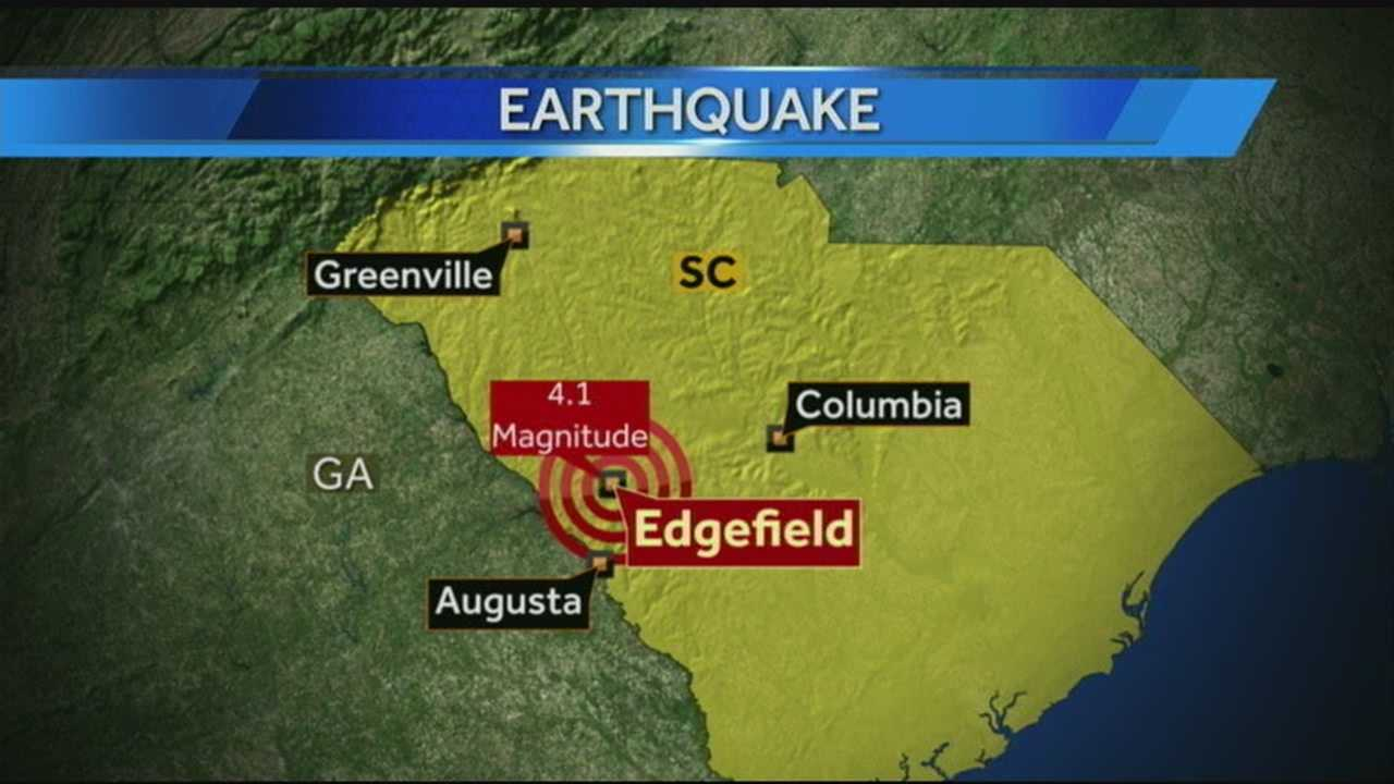 4.1 Magnitude earthquake shakes South Carolina