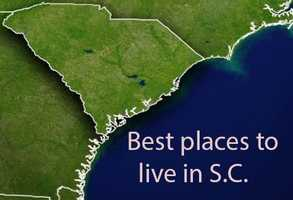Movoto, an online real estate brokerage based in San Mateo, CA, used 7 criteria to compare US Census data for places in South Carolina with populations over 10,000. Based on the results they put together a list of the top 10 places to live in S.C. The criteria used was: total amenities, quality of life, total crimes, tax rates, unemployment, commute time and weather.