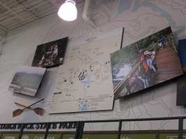 Many of the wall displays, especially in the camping area, are inspired by Upstate destinations.