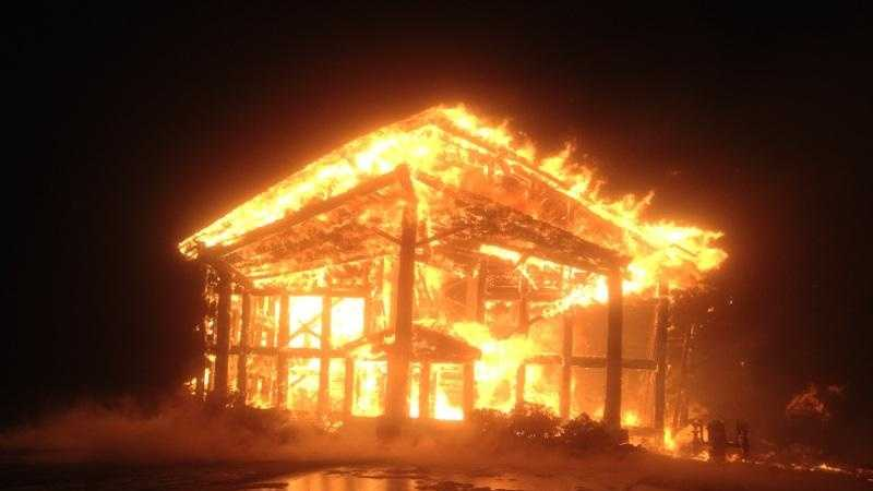 Four Madison County fire departments fought the flames.