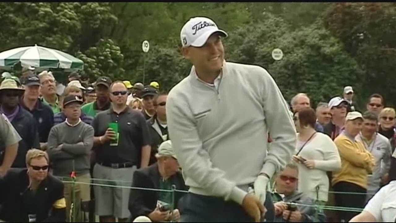 Crowds gathered at the Masters