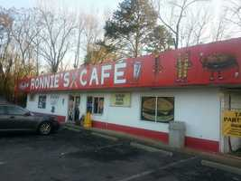 Ronnie' Cafe, Anderson: 9 nominations (Also on Best Burger list)