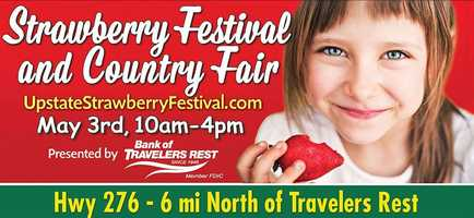 The Strawberry Festival and Country Fair is May 3 on Highway 276. The festival includes craft and food vendors, magic shows, jugglers, a jump house and entertainment. For more information: https://www.facebook.com/strawberryfestivalcountryfair29635