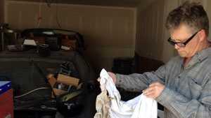 shirt worn by Josh Cheetam when car exploded