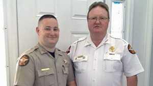 Deputy Cruz Thomas and his father, Sheriff Steve Thomas