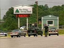 On May 16, 2003, an employee of Blue Ridge Bank in Greer and two customers were gunned down during a robbery.  The killer was never caught.