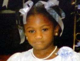 Dymia Woody, 8, who was missing for a day in July 2008 before her body was found in a vacant home, suffocated during a sexual assault that Sam Young, then 14, later admitted to.  He was sentenced to 25 years.