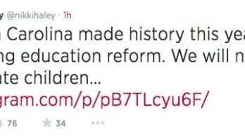 Haley education tweet