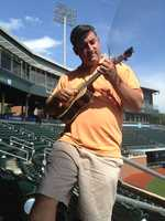 Thanks to a wedding gift from WYFF News anchor Carol Goldsmith... Marc took up the ukulele in 2012.