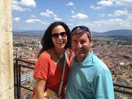 Marc has been to nearly every state, and he is currently on a quest to visit every continent. 4 down, 3 to go! Picture from high above Florence, Italy