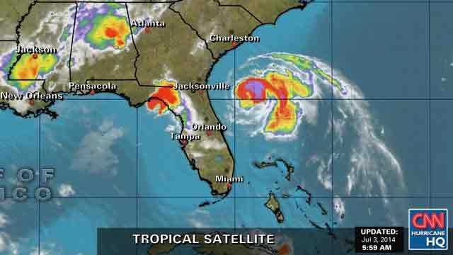 Hurricane Arthur satellite