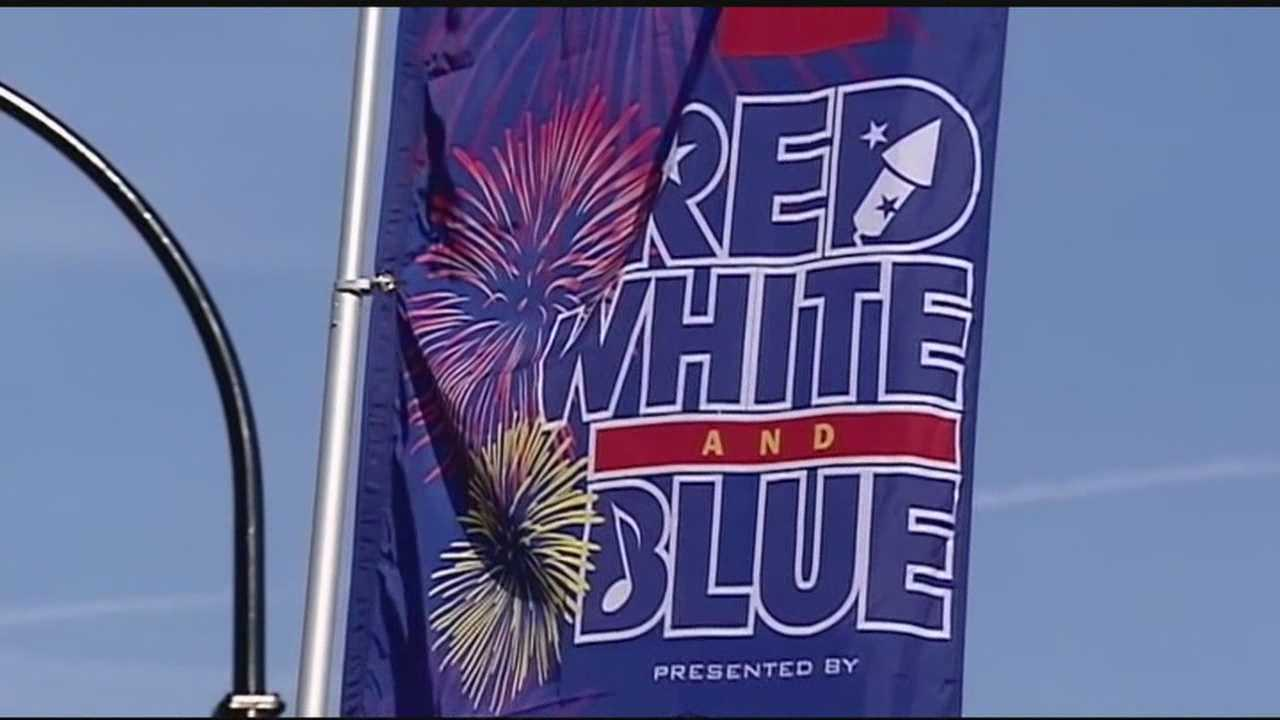 Nearly 50 thousand people flocked to downtown Greenville for the city's annual Red, White and Blue celebration.
