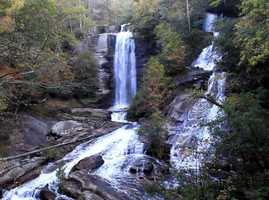The hikes to some of the beautiful waterfalls in the Upstate are too difficult for children, but a perfect one for them is the short and easy hike along Reedy Cove Creek to Twin Falls in Pickens County.  The 75-foot main waterfall and the accompanying 45-foot fall are beautiful, and the quarter-mile hike to reach them is on nearly level ground.  For more information, click HERE.