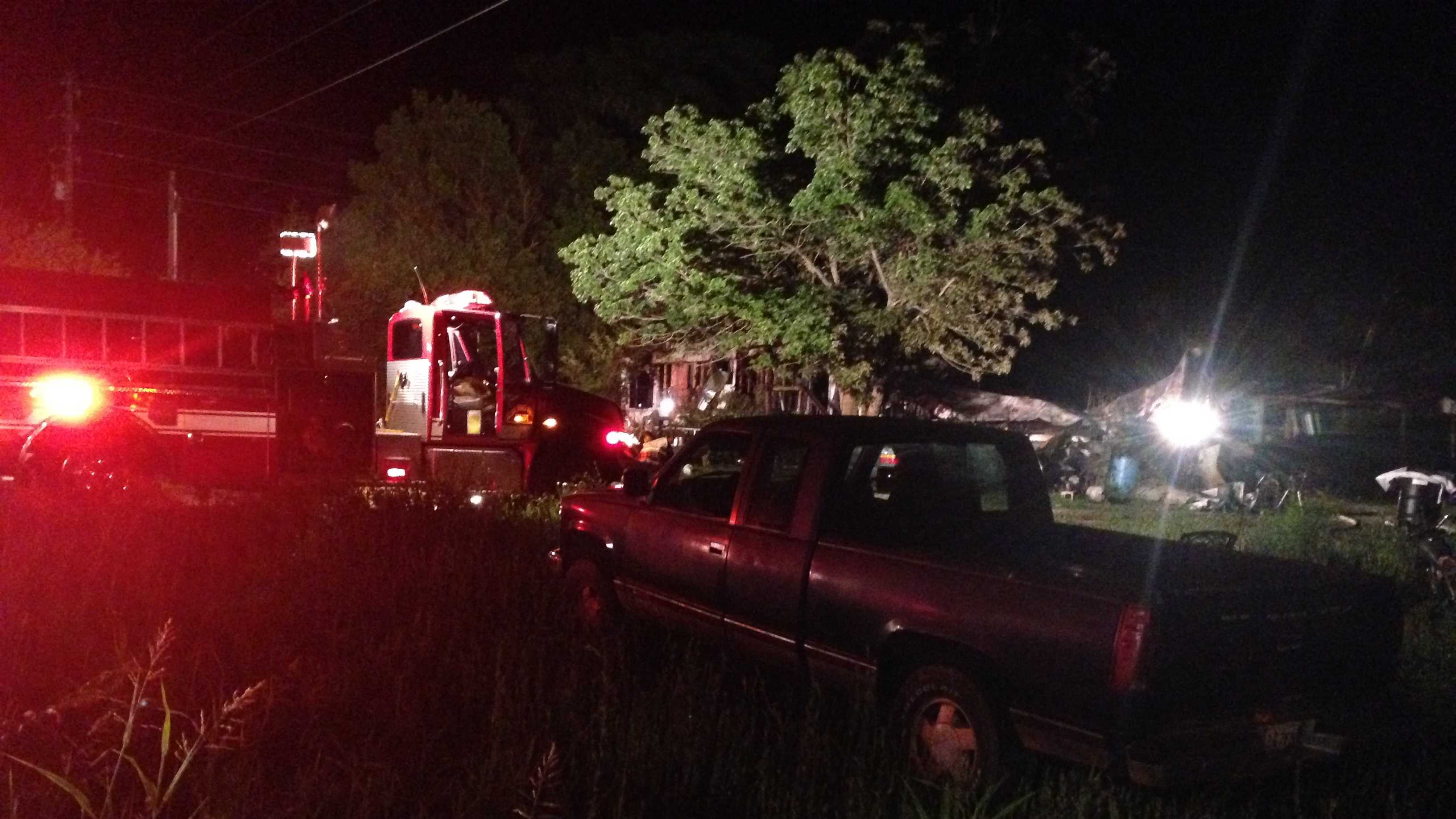 img - Officials investigating late-night mobile home fire