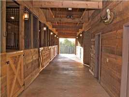 The home has an 11 stall barn. This home is listed on realtor.com for $8,000,000.