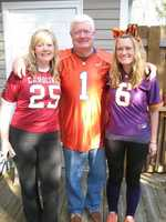 Mandy's always lived in a House Divided.  She and her dad went to Clemson.  Her mom and sister both went to South Carolina.