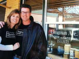 Pamela has been married to her husband, Trip, for 20 years. They own a restaurant in Asheville's River Arts District.