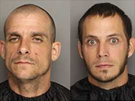 Justin Wooten and Jonathan Herndon: charged with possession of stolen vehicle
