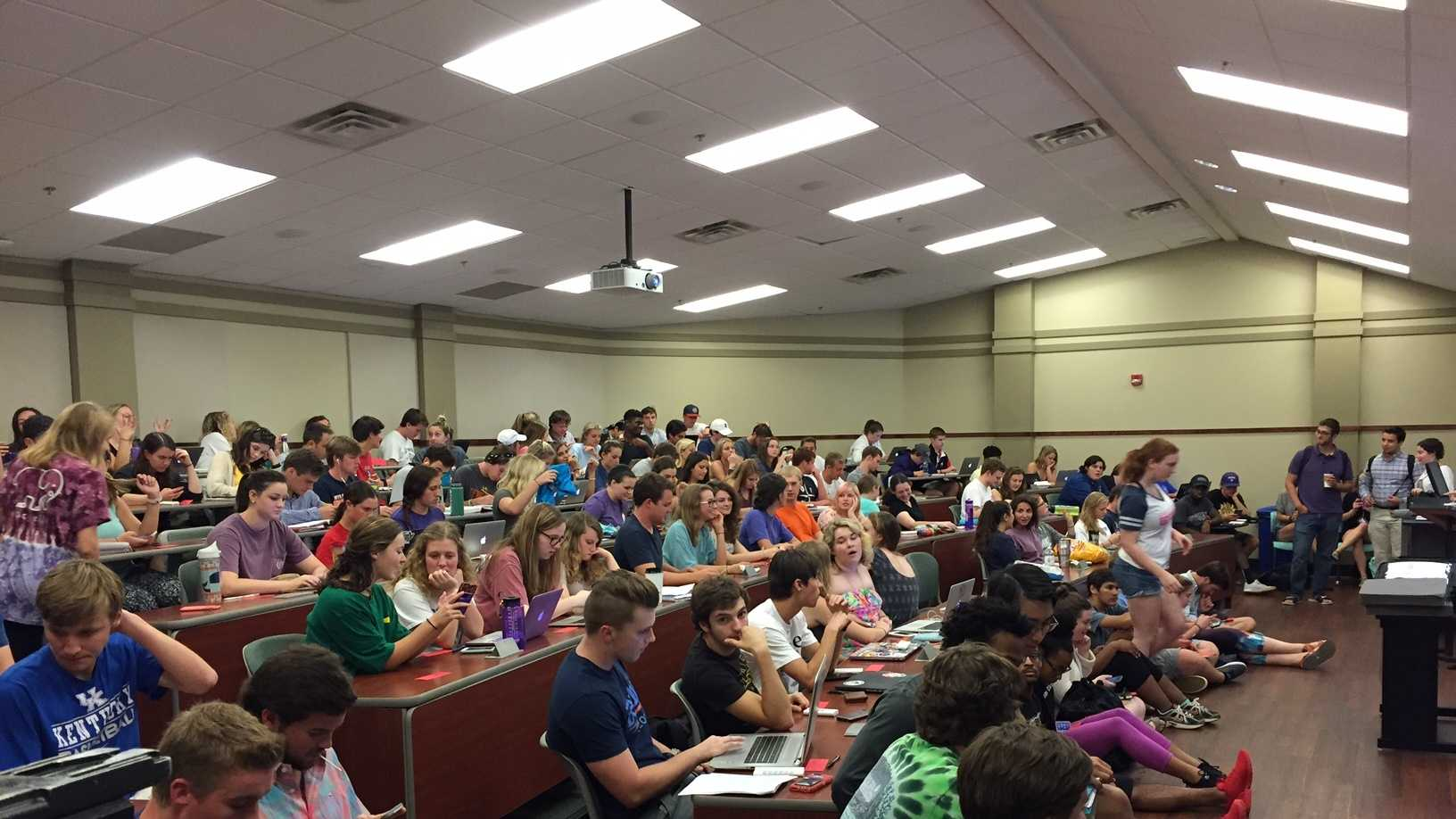 More than 100 Furman students evaluated presidential candidates during first debate.