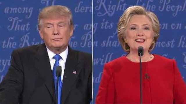 Trump and Clinton split at debate