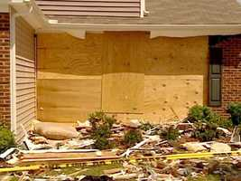 May 18, 09: Weeks after the crash, the Bardsley house is still in shambles.