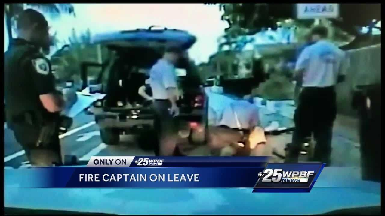 Fire captain on leave