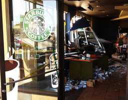 Customers screamed as a Mercedes sport utility vehicle crashed into a busy Starbucks coffee store on South Main Street in Salinas and injured six people on April 6, 2012. A 59-year-old woman was driving the SUV when it zoomed into a crowd of Starbucks customers who had been enjoying sunny weather as they sipped coffee at outdoor tables. Glass and furniture flew across the room before the out-of-control SUV finally stopped at the drink ordering counter.Read the article by clicking here.