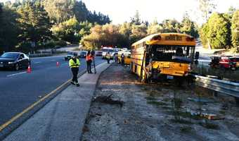 On Oct. 1, 2012, Monte Vista Christian School bus collided with a van on Highway 17 in Scotts Valley during rush hour. Officials said the van driver suffered life-threatening injuries and the bus driver escaped with moderate injuries.