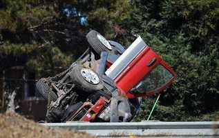 Several vehicles were tangled into this crash on Highway 101 in Salinas on Oct. 16, 2012.