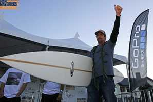 Mel decided to split his $50,000 1st-place prize winnings with the other top finishers -- a classy move and symbol of good faith. Photo by Brian Overfelt / Mavericks Invitational