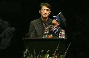 "Peter Wu, Elizabeth Butler's partner, spoke at a memorial in San Jose. ""Elizabeth, my love, our boys' loving mom. Now her life has ended. She will live on in spirit, and in the lives she touched. I want to share what I whispered to her when I saw her body. I promised I would take care of our sons and they would always know what a great person their mom was. Her memory will serve as my guiding light,"" Wu said.""I miss you so much Beth. We will miss you so much. Goodbye my love,"" Wu said."