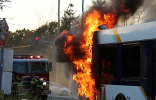 On Feb. 22, 2013 a bus caught fire near 41st Avenue in Capitola. No one was injured and the driver escaped unharmed.