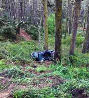 In Pacific Grove, four vehicles collided on Highway 68 at Skyline Forest Drive on April 4, 2013. The wreck caused two cars to plummet down a wooded hill and smash into trees. All drivers escaped with minor injuries.
