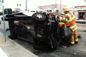 The wreck happened at the intersection of Lighthouse Avenue and David Avenue at 9:10 a.m. (Sept. 16, 2013)