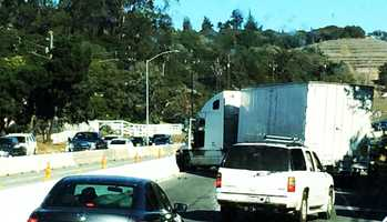 A big-rig crashed and blocked Highway 101 in Prunedale Friday. (Nov. 29, 2013)