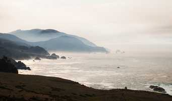 Stan Russell shot this photo in the Rocky Creek area of Big Sur Tuesday showing smoke along the Big Sur coastline.
