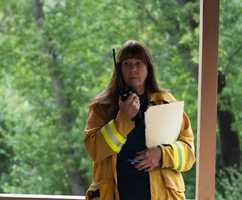 Big Sur Fire Chief Martha Karsten still lead her crew fighting thePfeiffer Fire.
