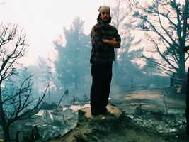 Kodiak Greenwood, whose photography has been printed by National Geographic and Rolling Stone magazines, was at a photo shoot in Oregon when the Big Sur fire ignited Dec. 16. As soon as he heard about the Pfeiffer Fire, Greenwood drove 11 hours straight to find everything he owned was gone.