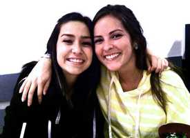Sierra LaMar is seen here with her sister Danielle.
