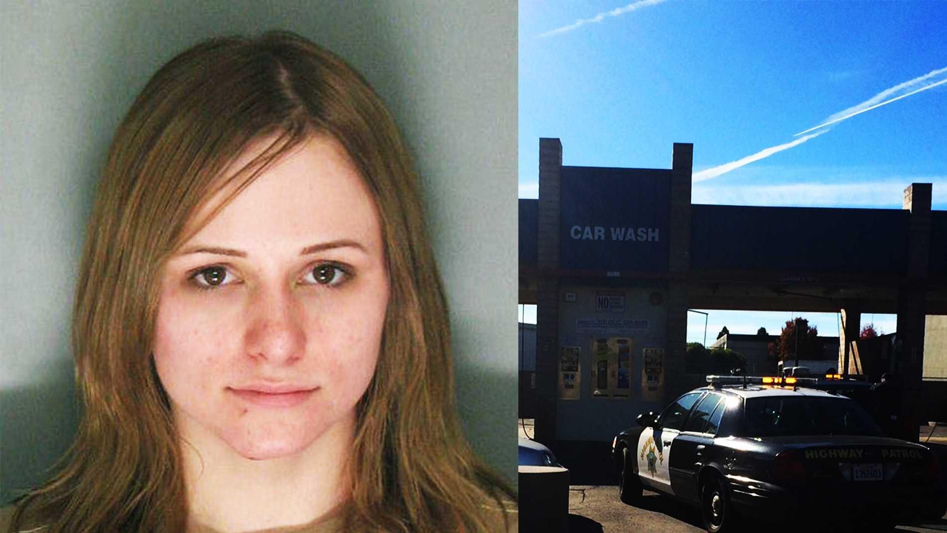 Ashley Robinson was arrested at this Santa Cruz car wash.