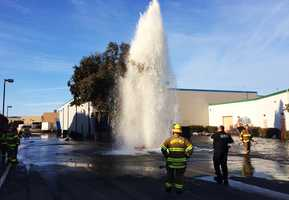 A fire hydrant was run over in Sand City, and the driver immediately fled the scene as a geyser began shooting 40 feet in the air. Businesses were flooded and thousands of dollars and gallons of water lost as water continued gushing for one hour. Read the story here.