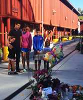 Neighbors and friends mourn the little girl's death. (July 28, 2015)